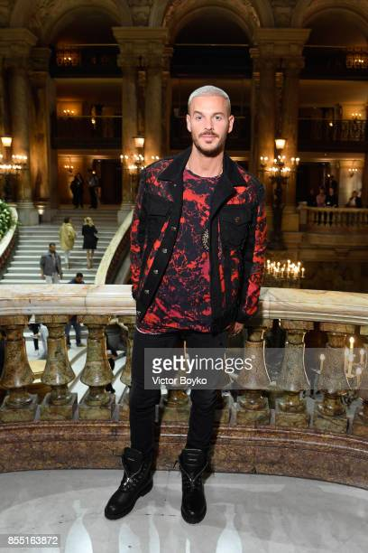 M Pokora attends the Balmain show as part of the Paris Fashion Week Womenswear Spring/Summer 2018 on September 28 2017 in Paris France