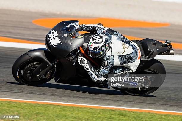Pol Espargaro from Spain of Red Bull KTM Factory Racing during the colective tests of Moto GP at Circuito de Valencia Ricardo Tormo on November 15th...