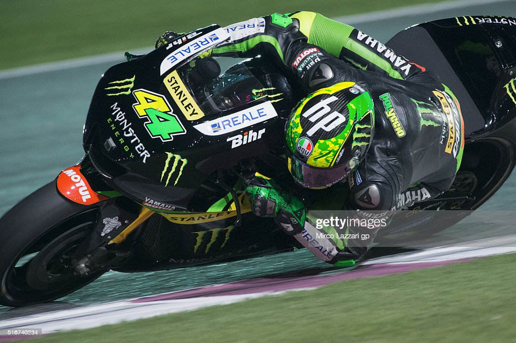 Pol Espargaro of Spain and Monster Yamaha Tech 3 rounds the bend during the MotoGP race during the MotoGp of Qatar - Race at Losail Circuit on March 20, 2016 in Doha, Qatar.
