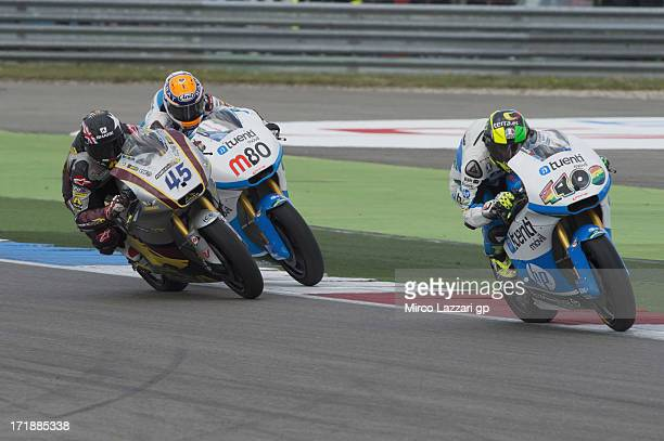 Pol Espargaro of Spain and Pons 40 HP Tuenti leads the field during the Moto2 race during the MotoGp Of Holland Race at TT Circuit Assen on June 29...