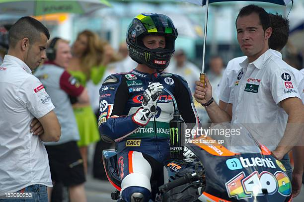 Pol Espargaro of Spain and Pons 40 HP Tuenti prepares to start on the grid during the Moto2 race of the MotoGP of San Marino at Misano World Circuit...
