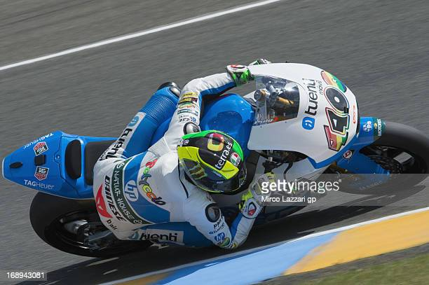 Pol Espargaro of Spain and Pons 40 HP Tuenti rounds the bend during the MotoGp Of France Free Practice on May 17 2013 in Le Mans France