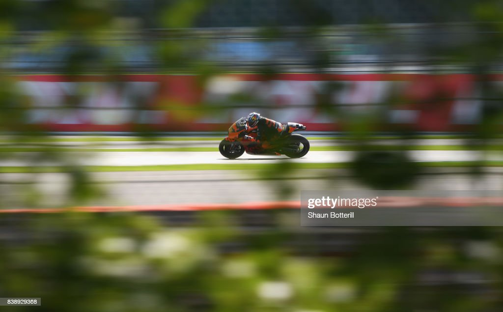Pol Espargaro of Spain and Red Bull KTM Factory Racing during Free Practice at Silverstone Circuit on August 25, 2017 in Northampton, England.