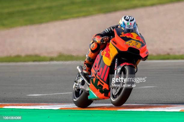 Pol Espargaro of Spain and Red Bull KTM Factory Racing heads down a straight during the MotoGP Tests In Valencia at Ricardo Tormo Circuit on November...