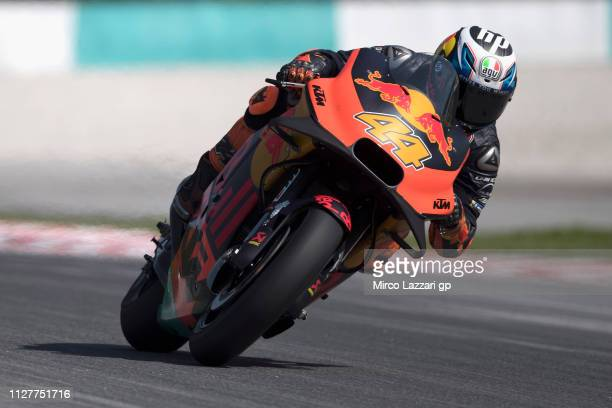 Pol Espargaro of Spain and Red Bull KTM Factory Racing heads down a straight during the MotoGP Tests In Sepang at Sepang Circuit on February 06 2019...