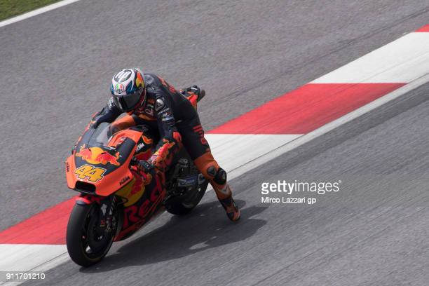 Pol Espargaro of Spain and Red Bull KTM Factory Racing heads down a straight during the MotoGP Tests In Sepang at Sepang Circuit on January 29 2018...