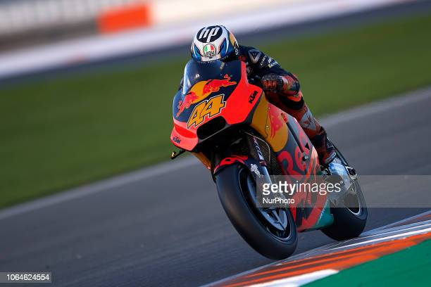 Pol Espargaro of Spain and Red Bull KTM Factory Racing KTM during the test of the new MotoGP season 2019 at Ricardo Tormo Circuit in Valencia Spain...