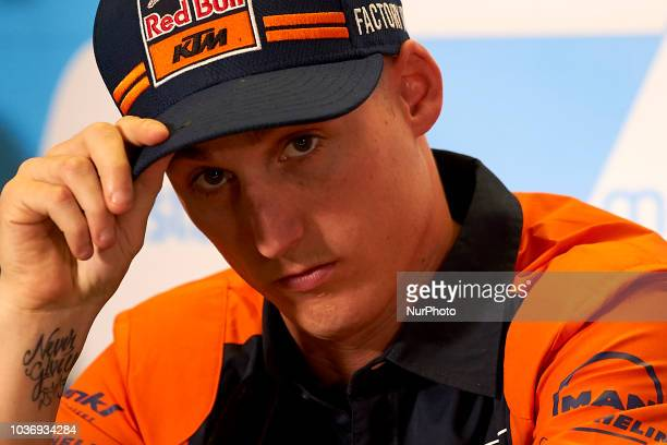 Pol Espargaro of Spain and Red Bull KTM Factory Racing KTM in the press conference before of the Gran Premio Movistar de Aragon of world championship...