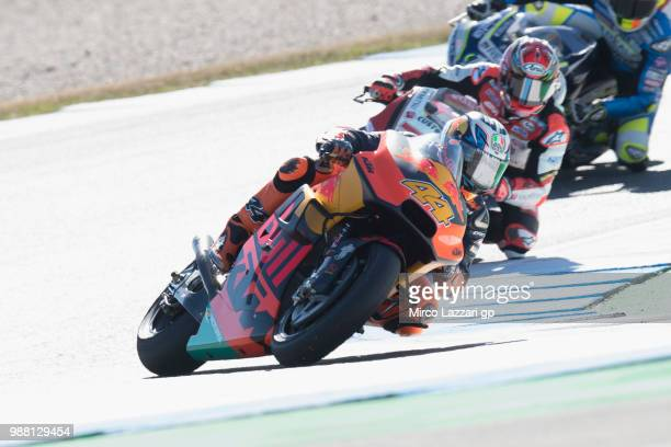 Pol Espargaro of Spain and Red Bull KTM Factory Racing leads the field during the Qualifying practice during the MotoGP Netherlands Qualifying on...