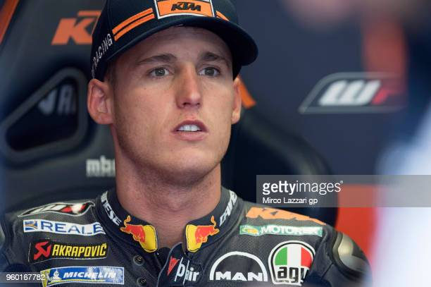 Pol Espargaro of Spain and Red Bull KTM Factory Racing looks on in box during the qualifying practice during the MotoGp of France Qualifying on May...