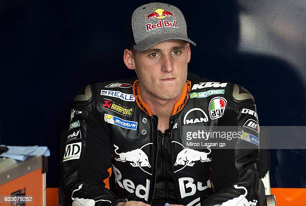Pol Espargaro of Spain and Red Bull KTM Factory Racing looks on in th box during the MotoGP Tests In Sepang at Sepang Circuit on January 30 2017 in...
