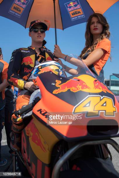 Pol Espargaro of Spain and Red Bull KTM Factory Racing prepares to start on the grid during the MotoGP race during the MotoGP of San Marino Race at...