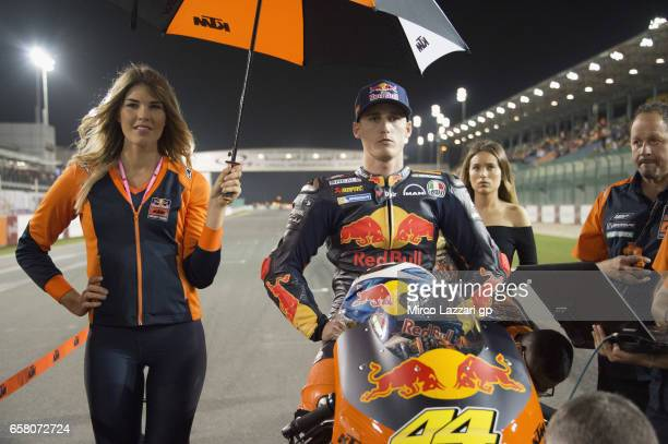 Pol Espargaro of Spain and Red Bull KTM Factory Racing prepares to start on the grid during the MotoGP race during the MotoGp of Qatar Race at Losail...