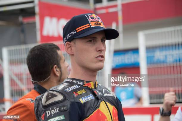 Pol Espargaro of Spain and Red Bull KTM Factory Racing prepares to start on the grid during the MotoGP race during the MotoGp of Argentina Race on...