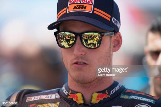 Pol Espargaro of Spain and Red Bull KTM Factory Racing prepares to start on the grid during the MotoGP race during the MotoGp Red Bull US Grand Prix...