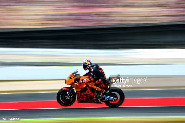 Pol Espargaro of Spain and Red Bull KTM Factory Racing rides during free practice for the MotoGP of Catalunya at Circuit de Catalunya on June 9 2017...