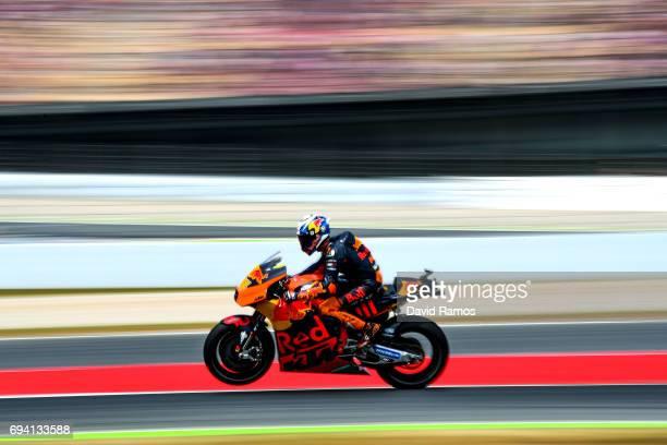 Pol Espargaro of Spain and Red Bull KTM Factory Racing rides during free practice for the MotoGP of Catalunya at Circuit de Catalunya on June 9, 2017...