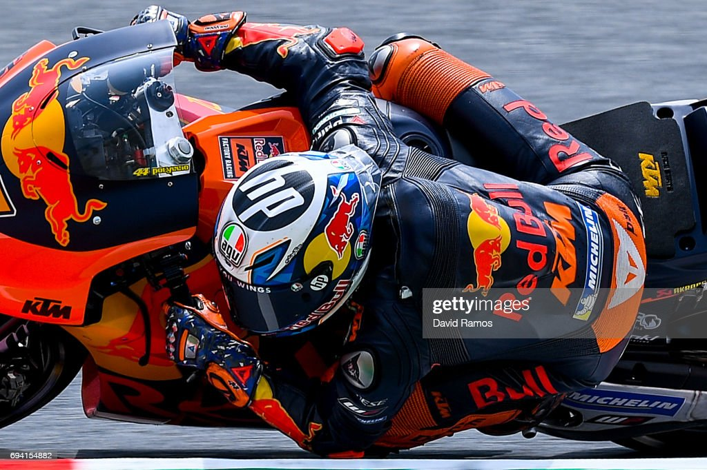 Pol Espargaro of Spain and Red Bull KTM Factory Racing rides during free practice for the MotoGP of Catalunya at Circuit de Catalunya on June 9, 2017 in Montmelo, Spain.