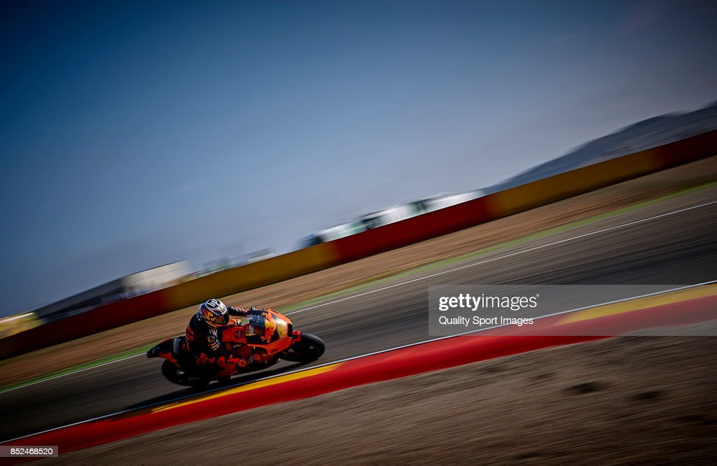 Pol Espargaro of Spain and Red Bull Ktm Factory Racing rides during qualifying for the MotoGP of Aragon at Motorland Aragon Circuit on September 23, 2017 in Alcaniz, Spain.