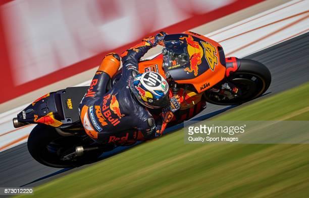 Pol Espargaro of Spain and Red Bull Ktm Factory Racing rides during the MotoGP of Valencia Qualifying at Comunitat Valenciana Ricardo Tormo Circuit...