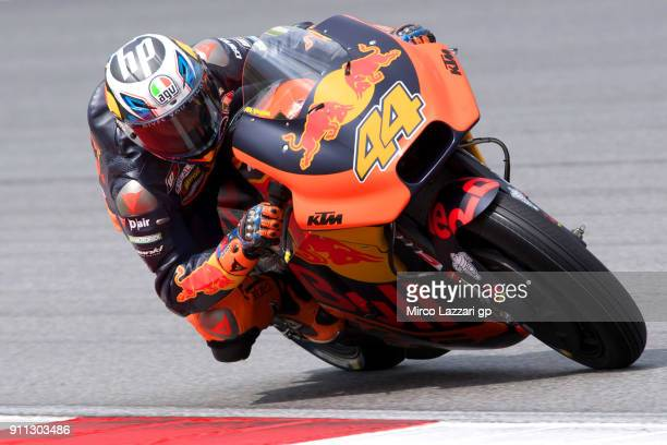 Pol Espargaro of Spain and Red Bull KTM Factory Racing rides during the MotoGP testing at Sepang Circuit on January 28 2018 in Kuala Lumpur Malaysia