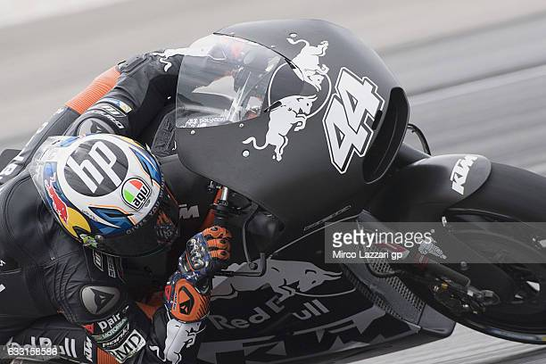 Pol Espargaro of Spain and Red Bull KTM Factory Racing rounds the bend during the MotoGP Tests In Sepang at Sepang Circuit on January 31 2017 in...