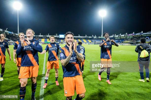 Pol Llonch of Willem II during the Dutch Eredivisie match between RKC Waalwijk and Willem II at Mandemakers Stadion on September 21, 2021 in...