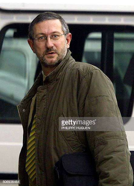 Pol Marchal the father of An Marchal one of the victims of Marc Dutroux arrives at the Arlon's assize court 08 March 2004 for the first day of the...