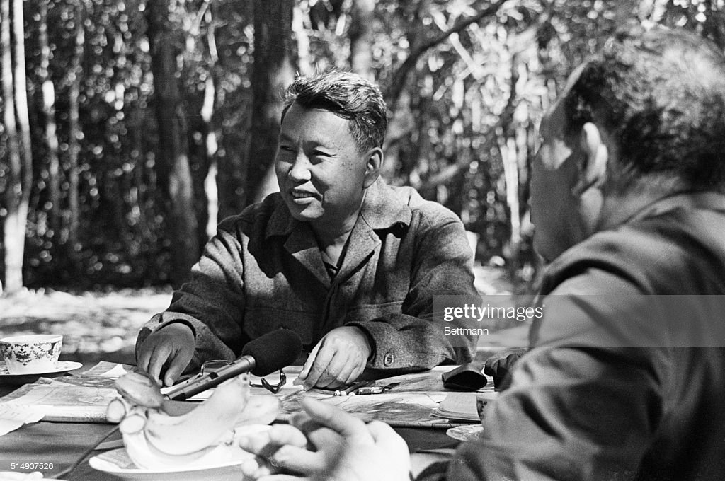 Pol Pot In The Cambodian Jungle : News Photo