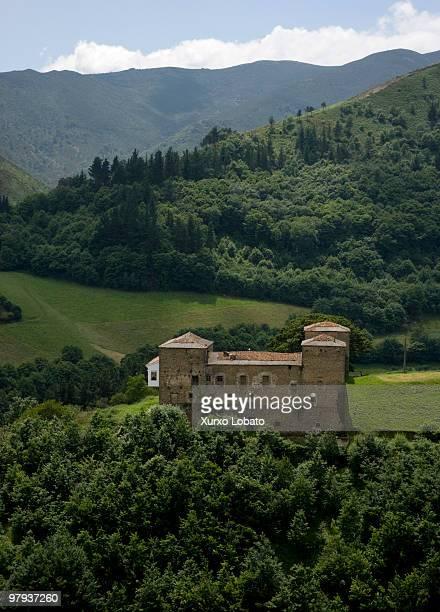 Pola de Allande castle Way of saint James Asturias region 23th Juny 2008
