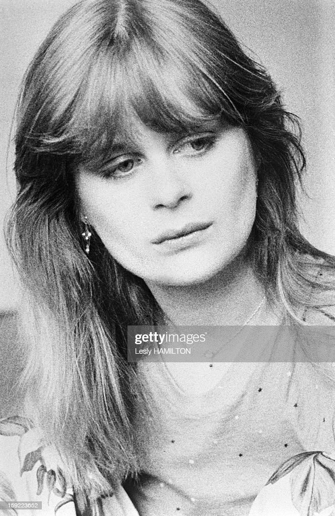 Pola Kinski, elder daughter of actor Klaus Kinski, in 1980 in France.