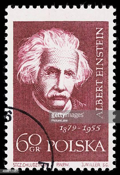 Poland Albert Einstein postage stamp