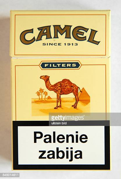 Camel cigarettes from Poland with warning