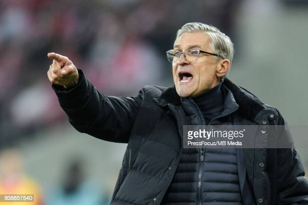 Poland coach Adam Nawalka during international friendly match between Poland and Korea Republic at Slaski Stadium on March 27 2018 in Chorzow Poland