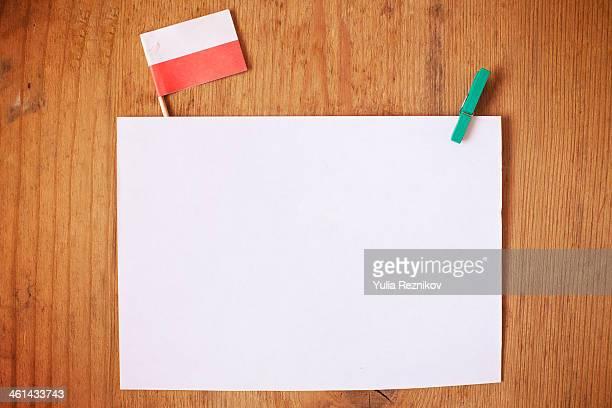 Poland flag with white letterhead