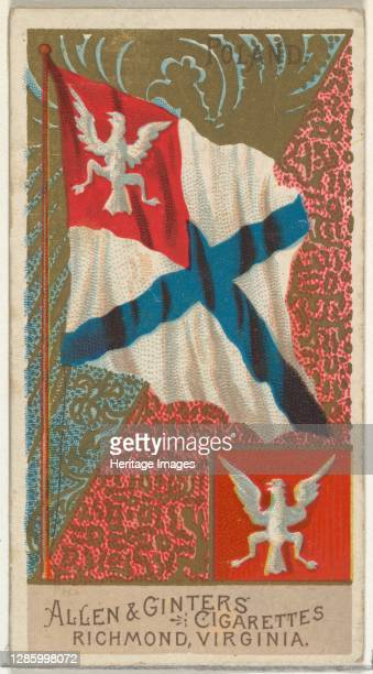 Poland, from Flags of All Nations, Series 2 for Allen & Ginter Cigarettes Brands, 1890. Artist Allen & Ginter.