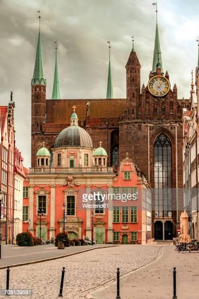 poland, gdansk, royal chapel in fron tof st. mary's church - polen stock-fotos und bilder