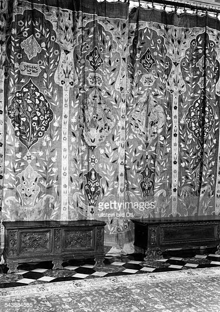 Poland - General Government Krakow : Wawel, Royal castle, tapestry and two chests in the office of Governor-General Hans Frank - 1942- Photographer:...