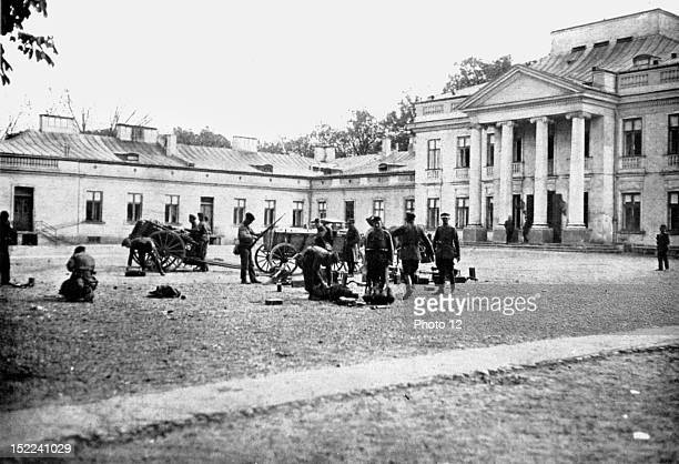 Poland In Warsaw marshal Pilsudski's coup First detachment of marshal Pilsudski's troops moving into position in the courtyard of honour of the...