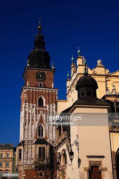 Poland, Krakow, Market Square , Town Hall Tower And Cloth-hall.