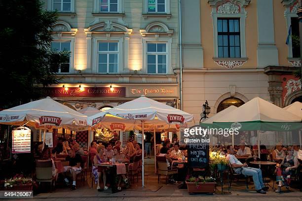 Restaurants pubs bars at the main market square
