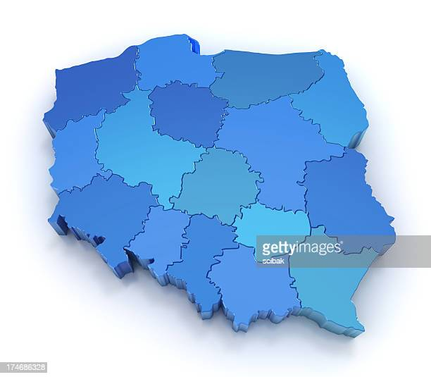 Poland map with provinces