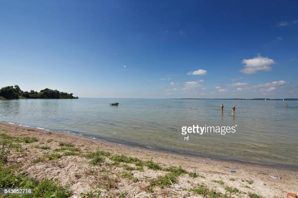 Polen, Masuren. Baden im See