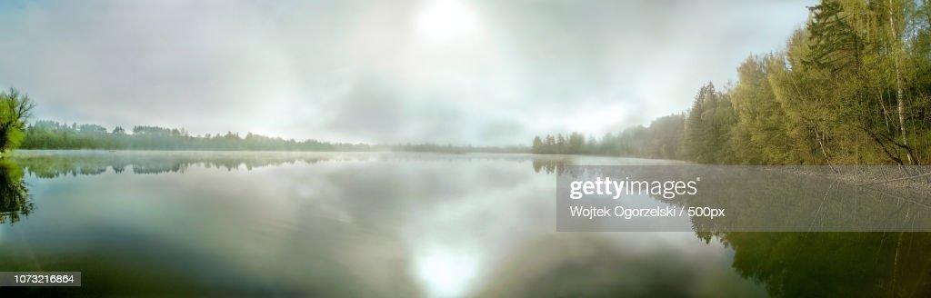 Poland Masuria, Sedranki Lake - sunrise : Stock Photo