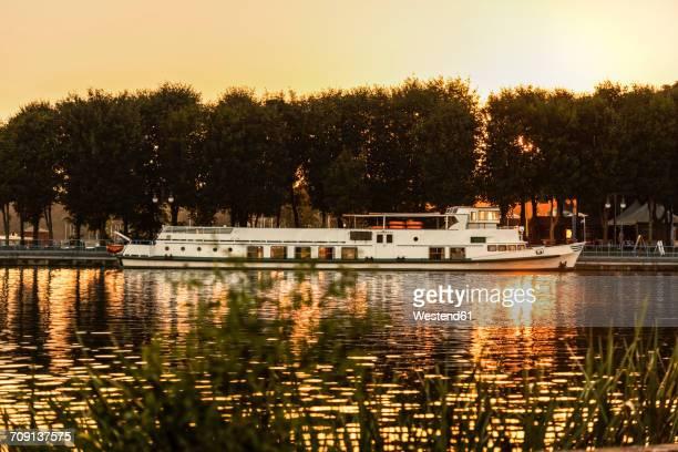 Poland, Masuria, Steam boat on Lake Niegocin