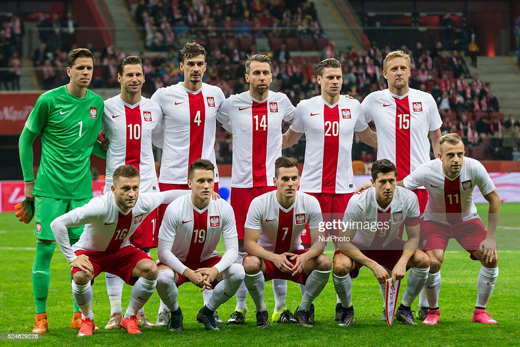 Poland national football team during the friendly match between Poland and Iceland at the National Stadium on November 13, 2015 in Warsaw, Poland.