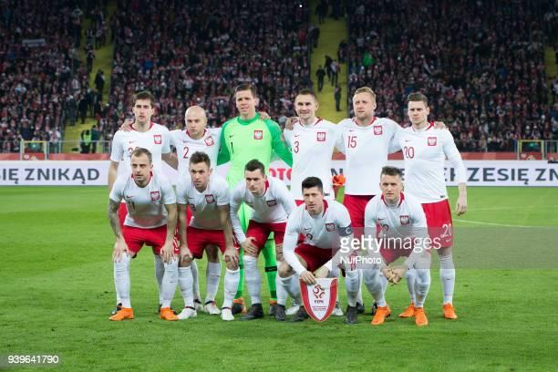 Poland national football team during the international friendly soccer match between Poland and South Korea national football teams at the Silesian...