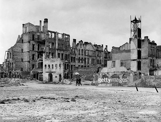 Poland Pomorskie / Pomerania Gdansk View on the ruins of the city Danzig after the Second World War 1945 Photographer Erich Engel Vintage property of...