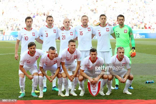 Poland pose prior to the 2018 FIFA World Cup Russia group H match between Japan and Poland at Volgograd Arena on June 28 2018 in Volgograd Russia