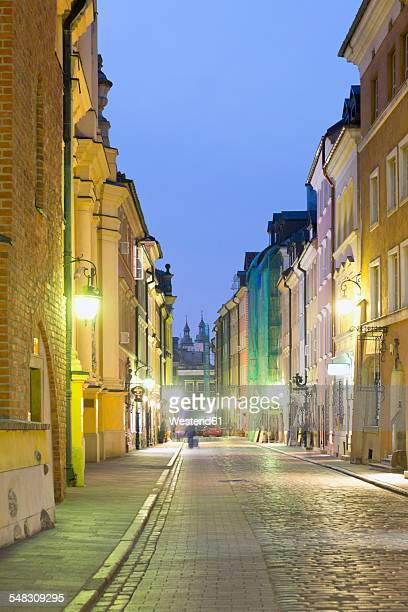 Poland, Ulica Piwna, street in the old town district of Warsaw